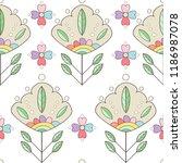 cute simple vector flower... | Shutterstock .eps vector #1186987078