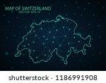 map switzerland. wire frame 3d... | Shutterstock .eps vector #1186991908