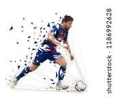 football player in dark blue...   Shutterstock .eps vector #1186992628