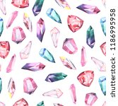 seamless pattern with bright... | Shutterstock . vector #1186995958