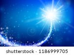 winter snowflake falling into... | Shutterstock .eps vector #1186999705