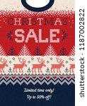 ugly sweater christmas season... | Shutterstock .eps vector #1187002822