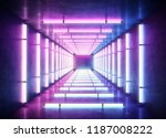 Small photo of Neon cyber punk light background concept.