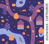 vector illustration of autumn... | Shutterstock .eps vector #1187010835