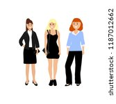 a diverse woman on a white... | Shutterstock .eps vector #1187012662