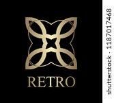 flourishes calligraphic art... | Shutterstock .eps vector #1187017468