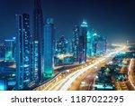 scenic nighttime skyline of...   Shutterstock . vector #1187022295