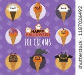 set of halloween ice cream ...   Shutterstock .eps vector #1187026492