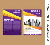 simple cover  layout  brochure  ... | Shutterstock .eps vector #1187029522