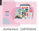 business series  color 1   news ... | Shutterstock .eps vector #1187032618