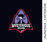 logo esport mysterious killer | Shutterstock .eps vector #1187034238