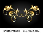 gold  jewelry  antique frame... | Shutterstock .eps vector #1187035582