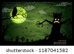 halloween scary night vector... | Shutterstock .eps vector #1187041582