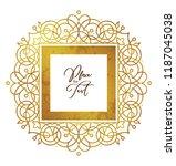 vector golden element  square... | Shutterstock .eps vector #1187045038