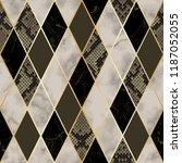 vector marble and snakeskin... | Shutterstock .eps vector #1187052055