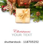 christmas gift and decorations | Shutterstock . vector #118705252