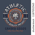 college athletic sports print | Shutterstock .eps vector #1187052565