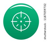 specific target icon. simple... | Shutterstock .eps vector #1187059732