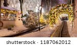 carousel and christmas... | Shutterstock . vector #1187062012