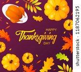 thanksgiving banner design....   Shutterstock .eps vector #1187062195