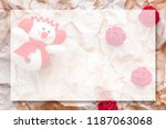 a plush snowman with a red... | Shutterstock . vector #1187063068