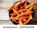tasty freshly made sweet potato ... | Shutterstock . vector #1187063908