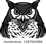 furious owl dark shadow | Shutterstock .eps vector #1187064388