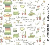 vocation summer hot set | Shutterstock .eps vector #1187067142