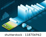 isometric tsunami data wave... | Shutterstock .eps vector #118706962