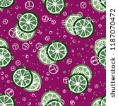 fruit pattern with lemon and... | Shutterstock .eps vector #1187070472