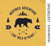 wilderness typography. textured ... | Shutterstock .eps vector #1187082568