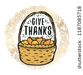 thanksgiving day. logo  text...   Shutterstock .eps vector #1187085718