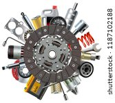 vector car spares concept with... | Shutterstock .eps vector #1187102188