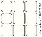 decorative frames  set 62  | Shutterstock .eps vector #1187102788