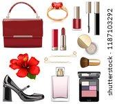 vector evening female... | Shutterstock .eps vector #1187103292