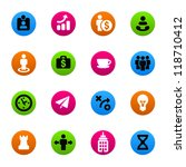 business strategy icons set | Shutterstock .eps vector #118710412