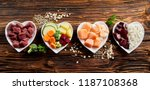 panorama banner of healthy... | Shutterstock . vector #1187108368