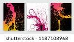 artistic background for wine... | Shutterstock .eps vector #1187108968