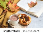 tea cup hot chocolate coffee... | Shutterstock . vector #1187110075