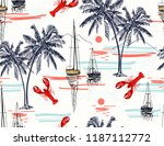 beautiful tropical vector...   Shutterstock .eps vector #1187112772