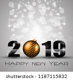 2019 happy new year background... | Shutterstock .eps vector #1187115832