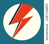 ziggy stardust red flash. hand... | Shutterstock .eps vector #1187116852