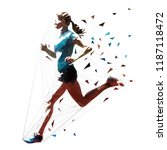 running woman  low polygonal... | Shutterstock .eps vector #1187118472