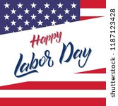 usa labor day greeting card.... | Shutterstock .eps vector #1187123428