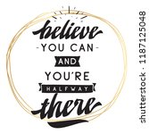 inspirational quote  motivation.... | Shutterstock .eps vector #1187125048