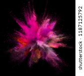 colored powder explosion on... | Shutterstock . vector #1187125792