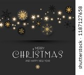 elegant christmas background... | Shutterstock .eps vector #1187127658
