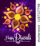 happy diwali. traditional... | Shutterstock .eps vector #1187127748