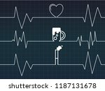 line of cardiogram with heart... | Shutterstock .eps vector #1187131678
