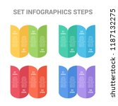 set with business infographics... | Shutterstock .eps vector #1187132275